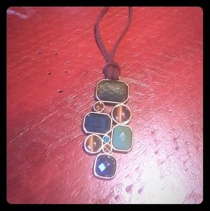 lia sophia brown leather and greens and brown gems